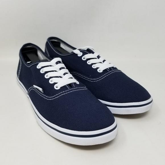Vans Authentic Lo Pro Navy White Sneakers Men's 7